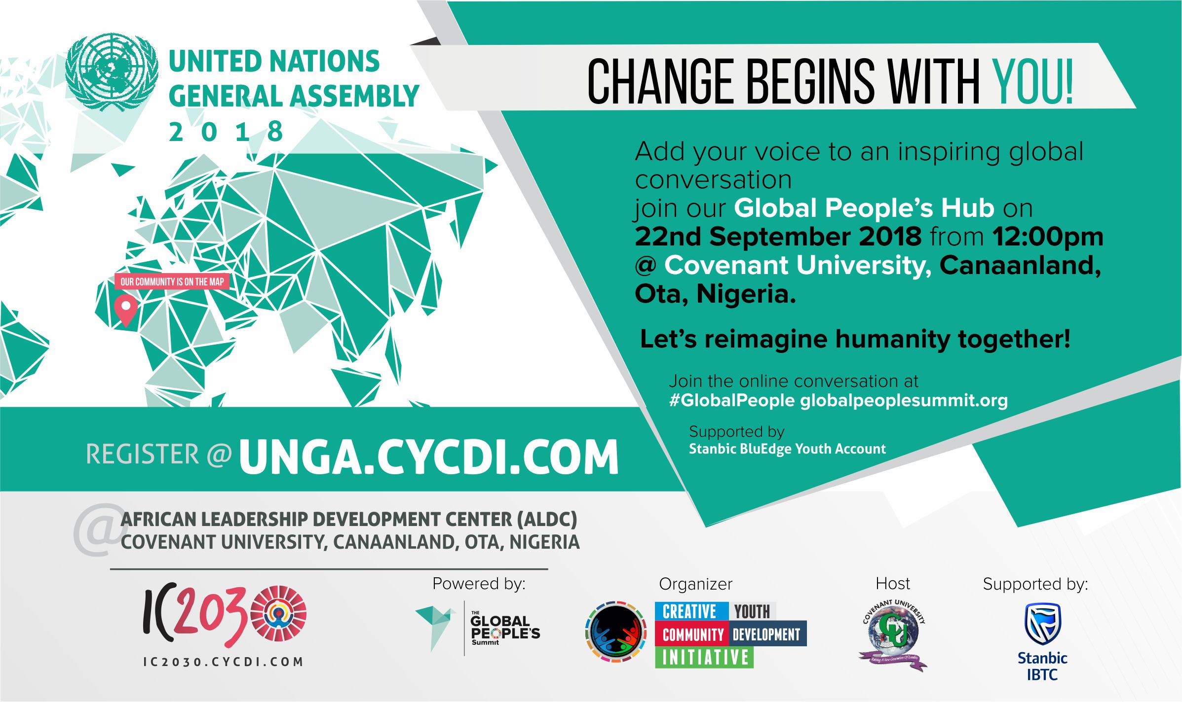 Global People's Summit, CYCDI partners Covenant University to give the University Community a seat at the table during the United Nations General Assembly.